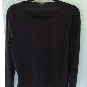 Worn once! Talbots Shadow Stripe top